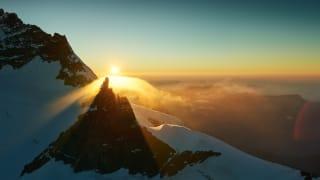 Jungfraujoch Sphinx Aussicht Sonnenuntergang