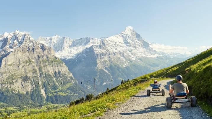 First Mountaincart Panorama Eiger Wetterhorn Grindelwald