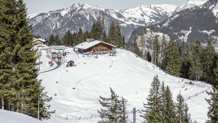 Snowtubing Winteregg Schnee