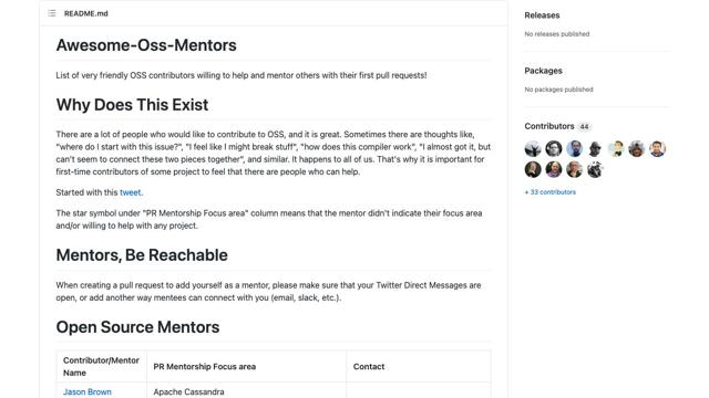 Awesome OSS Mentors