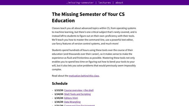 MIT: The Missing Semester