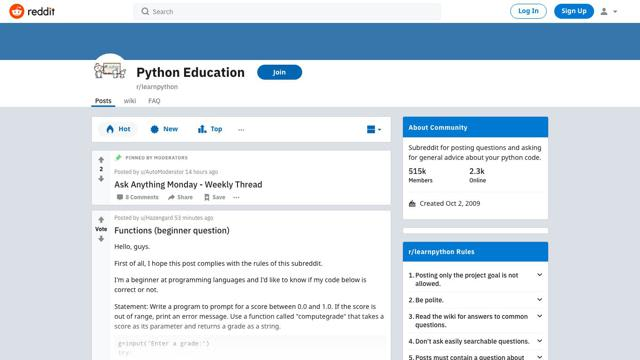 r/learnpython