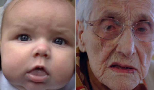 100 лет за 150 секунд: режиссер снял на видео уникальный процесс старения