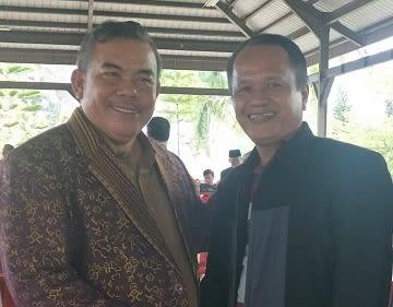 Ketua Umum PPTSB Mangihut Sinaga, SH, MH dan Ketua Cabang PPTSB Kota Siantar Drs.Risbon Sinaga