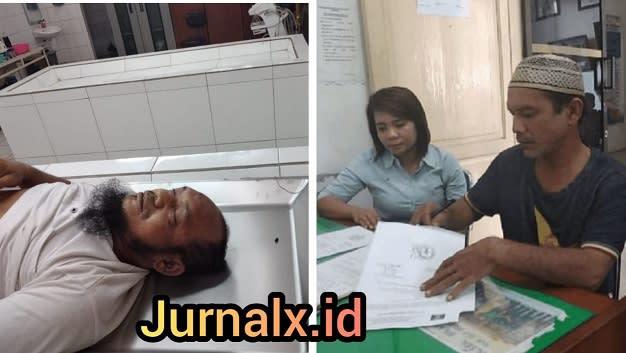 Jenajah Napi Irwan Syahputra Nasution dan perwakilan keluarga diruangan jenajah RSUD dr Djasamen Saragih Kota Siantar