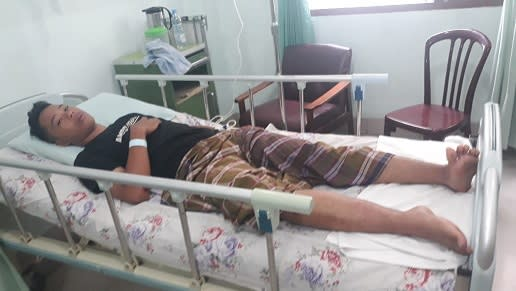 Diva Bimantara sedang mendapatkan perawatan medis atau opname