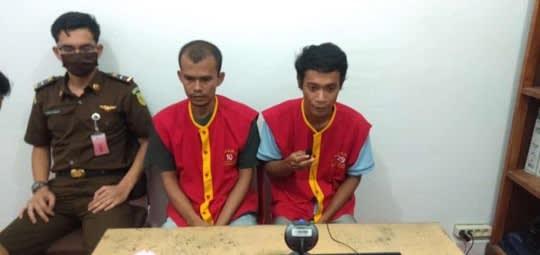 Kedua terdakwa, Andi dan Obot dituntut hukuman mati saat disidang Teleconference di Lapas Klas IIA Pematangsiantar