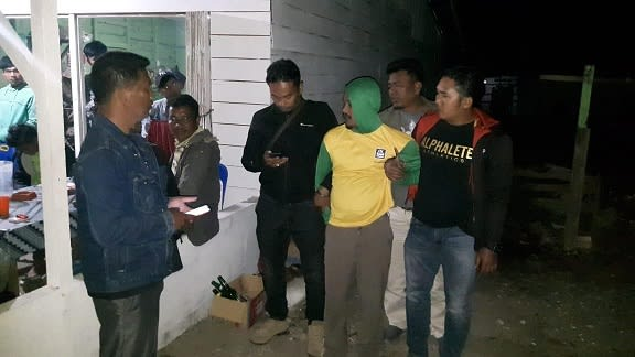 Pelaku FPS alias Feri saat ditangkap Tim Opsnal Sat Reskrim Polres Simalungun