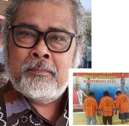 Ketua Umum Komnas PA,Arist Merdeka Sirait dan Ketiga Pelaku