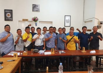 Pengurus Cabang PRSI Kota Siantar photo bersama usai rapat perdana