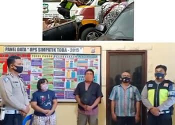 Aksi arogan supir angkot Koperasi Beringin Nyaris Tabrak Personil Sat Lantas Polres Pematangsiantar dan Perdamaian