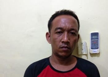Tersangka Mas alias Sumpil yang sudah ditangkap