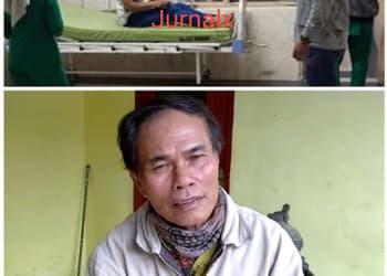 Edi Surahman alias Atok saat menjalani perawatan medis (atas) dan Prayono (bawah)