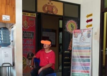 Heri Jaya diamankan di Mako Polsek Siantar Barat