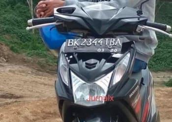 Septor Honda Beat milik Muhammad Asrul yang raib dicuri maling dari rumahnya