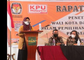 Wakil Walikota terpilih dr Susanti Dewayani menyampaikan kata sambutannya