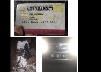 KTA Polri, Tali Tambang dan Mobil milik kelima pria ngaku Polisi