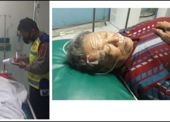 Pasutri mengalami luka ringan mendapatkan perawatan medis