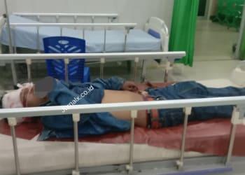 Erikson Saragih kondisi luka berat