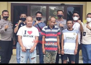 Kapolsek Siantar Martoba, Kanit Reskrim dan Tim Libas Mengapit Ketiga Pelaku