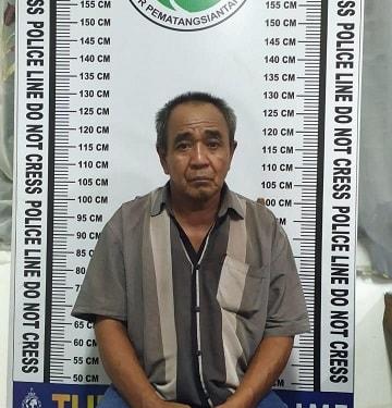 Pelaku IR alias Ismail dan barang bukti
