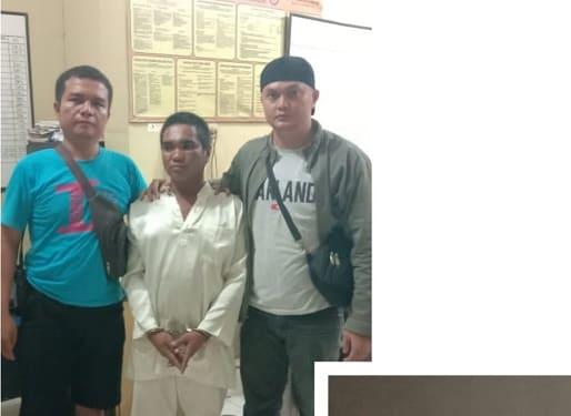 Pelaku In alias Nandra alias Rojak diapit Tim Opsnal Satres Narkoba dan barang bukti sabu