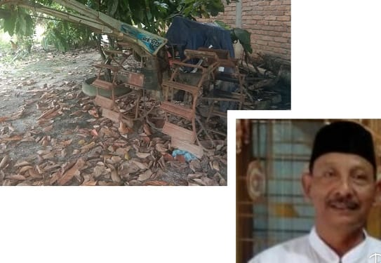 Satu unit jetor bantuan pemerintah di Kelompok Tani Jaya dan Kadis Ketahanan Pangan dan Pertanian
