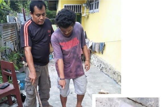 Kanit Reskrim Polsek Siantar Marihat IPDA Ponijan Damanik dan Pelaku FBS alias Febrius serta barang bukti sabu