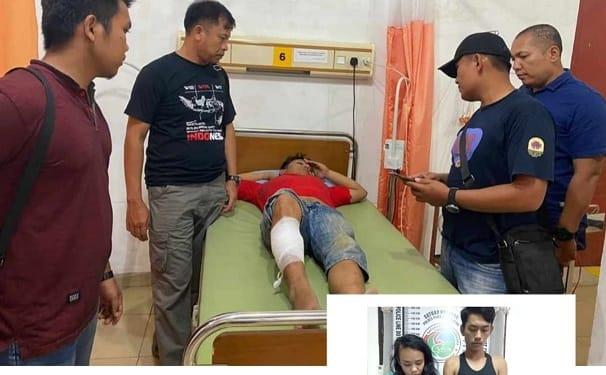 Kasatres Narkoba AKP David Sinaga dan Tijm membawa Oknum Bandar Ipan berobat ke RSUD dr Djasamen Saragih serta sepasang kekasih yang ikut ditangkap