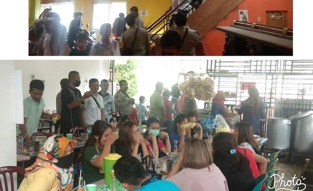 Puluhan pelajar ditemukan di Warent Queen dan Sembilan wanita di Warung Miso Lestari