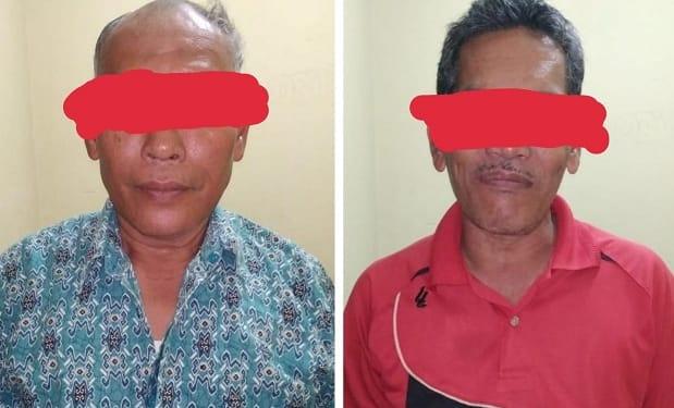 Ha dan AB kedua pelaku dugaan korupsi yang ditangkap