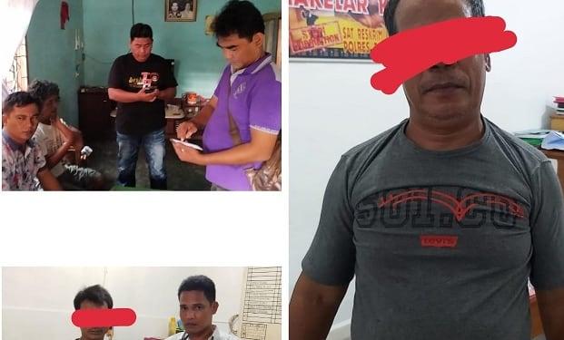 Ketiga pelaku jurtul judi togel yang ditangkap