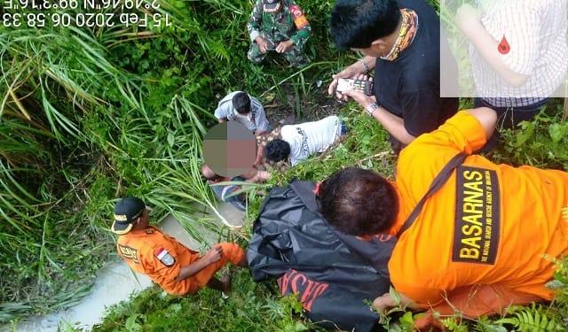 Jenajah Anderson Situmorang saat ditemukan dan dievakuasi