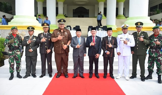 Wakil Wali Kota Tanjungbalai, Drs H Ismail photo bersama Forkopimda usai upacara Peringatan Hari Kesaktian Pancasila