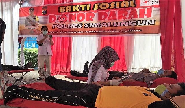 Donor Darah Polres Simalungun