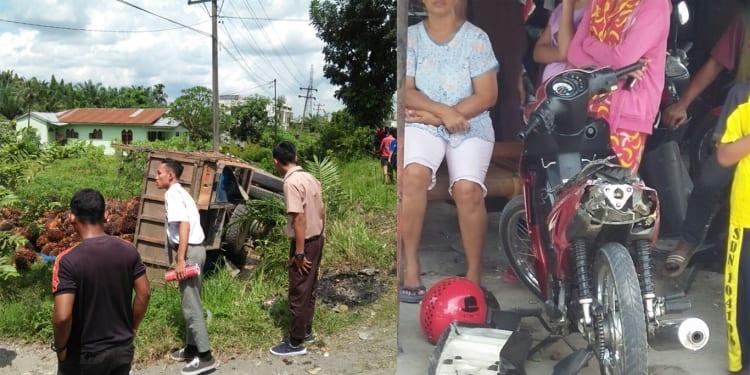 Bonceng 4 lalu ditabrak truk, bocah 4 tahun remuk tergilas di Deli Serdang.