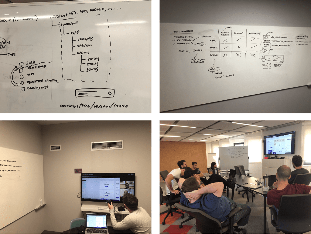 A few images of various meetings and component discussions we had over the course of the project