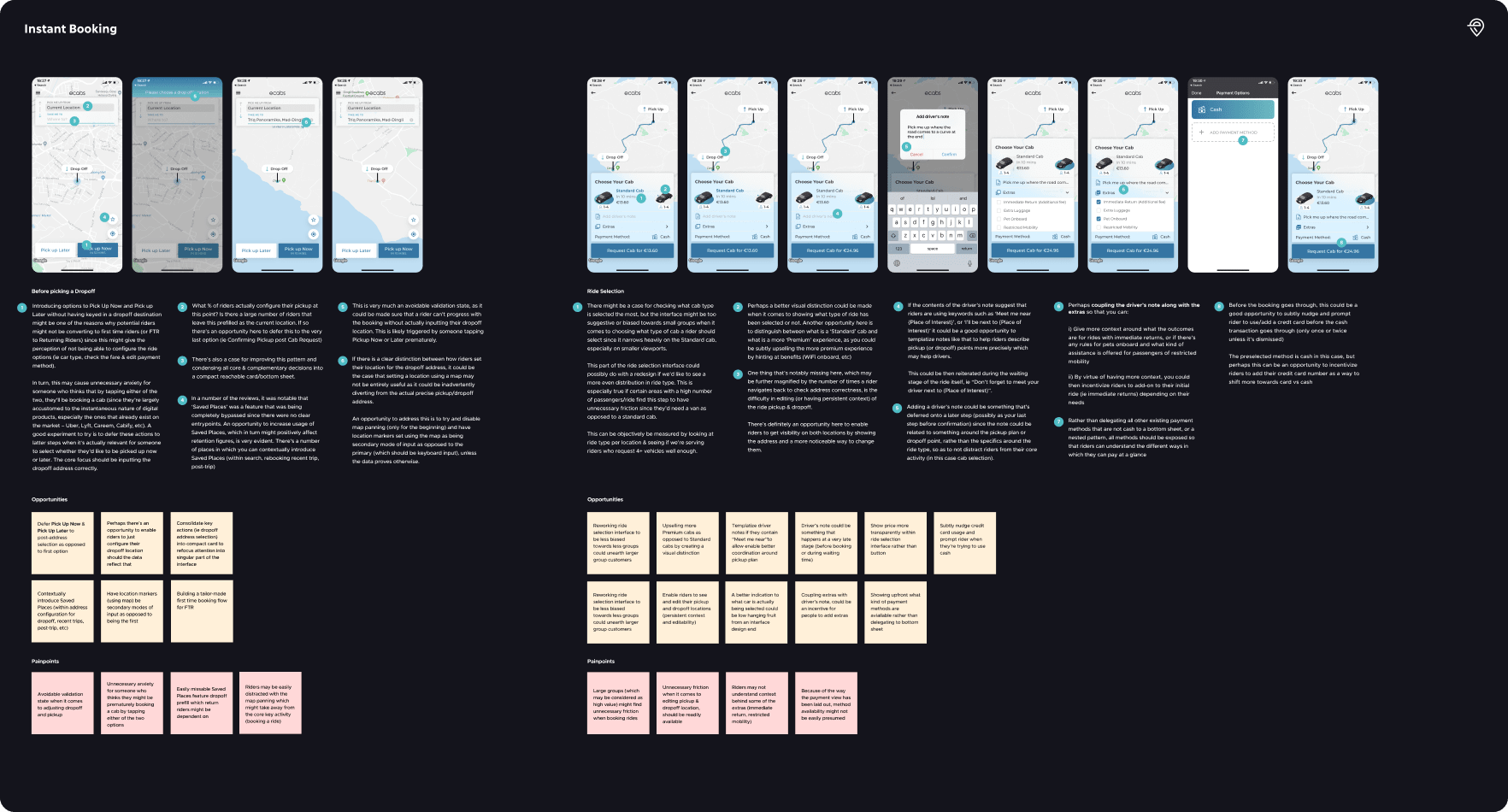 Diagram of the audit for the instant booking flow