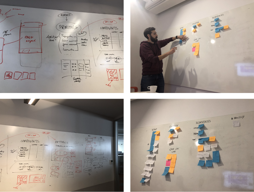 These are a few images showing the different workshops and meetings I had with different members of the product team