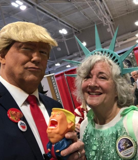 Virginia with Donald Trump impersonator