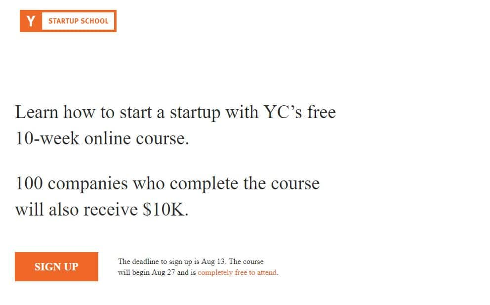 ycombinator startup school justsmartminds.com