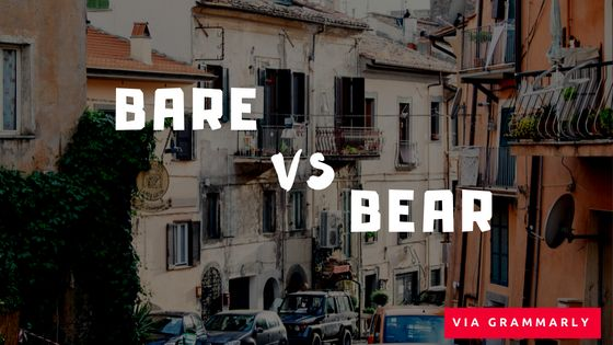 Bear vs. Bare What's the Difference?