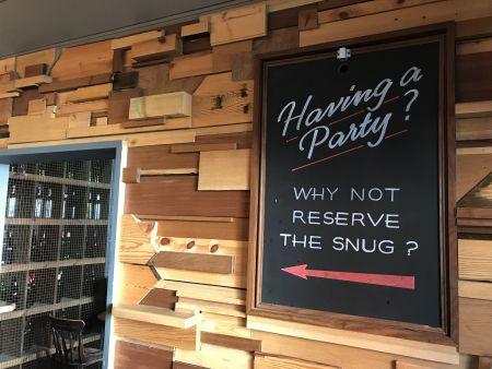 Comfy Snug in Rustic Bar