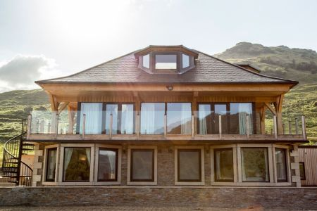 Carrick Castle Estate, Lodge & Barn Balcony with loch views