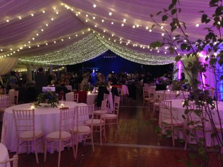 Traditional Marquee next to Loch Romantic style