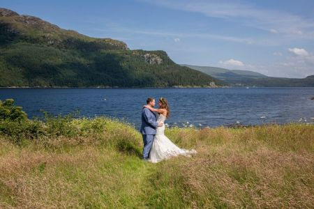 Traditional Marquee next to Loch Picturesque views and photo opportunities