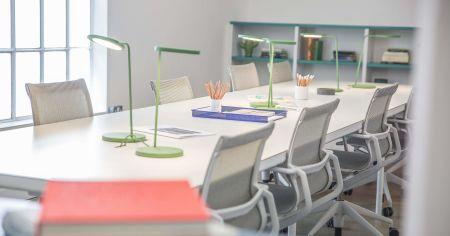 Functional Well Lit Meeting Room