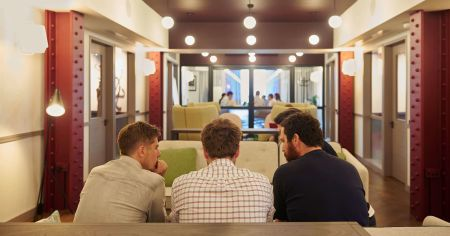 Multipurpose well lit meeting room
