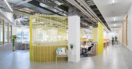 Electric contemporary meeting space