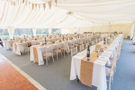 Traditional Marquee next to Loch A range of styles and